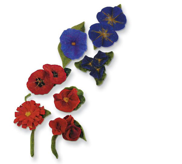 Felted Flower Kits - Iris or Poppy