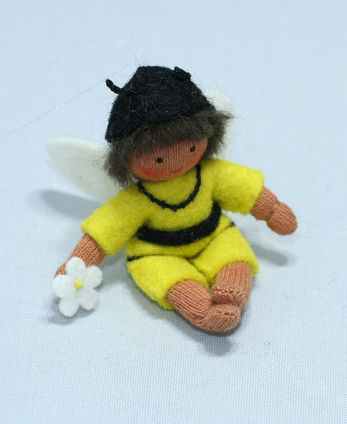 Bee Baby Boy Felted Waldorf Doll