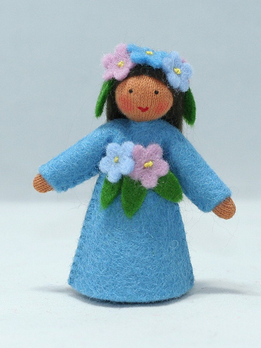 Forget-Me-Not Fairy Felted Waldorf Doll - Four Skin Colors