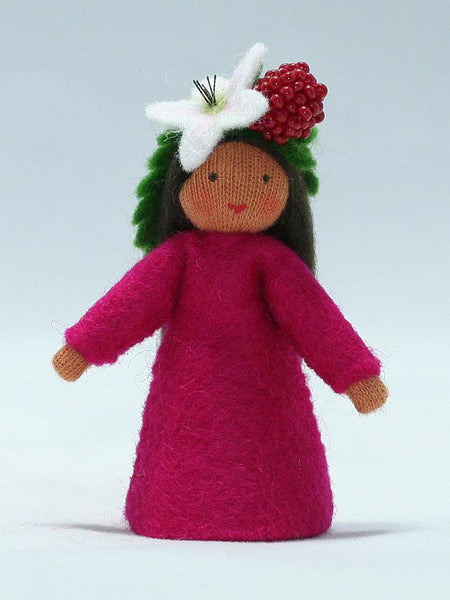 Raspberry Fairy Felted Waldorf Doll - Four Skin Colors
