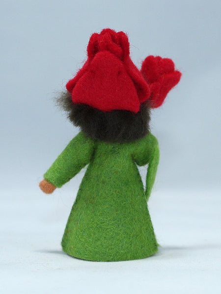 Red Tulip Fairy Felted Waldorf Doll - Two Skin Colors
