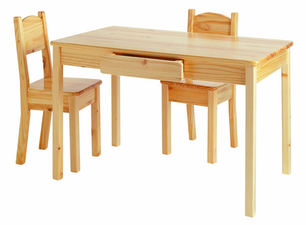 Child's Table and Open-Back Chairs