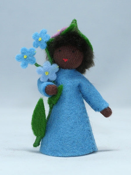 Forget-Me-Not Cap Fairy Felted Waldorf Doll
