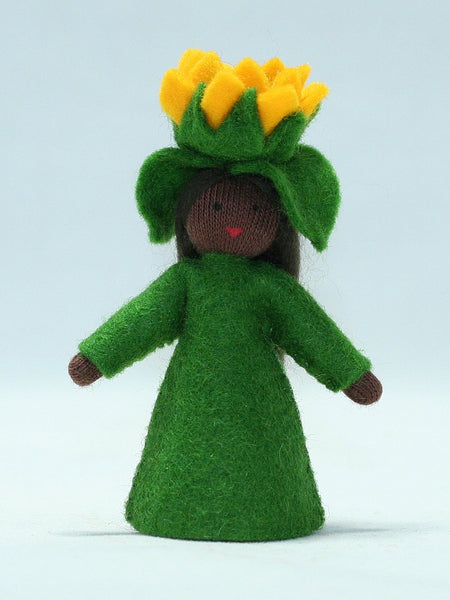 Sunflower Fairy Felted Waldorf Doll - Three Skin Colors