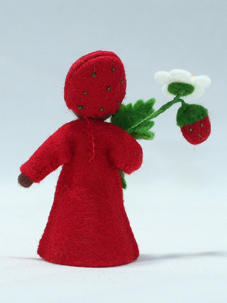 Strawberry Prince Felted Waldorf Doll
