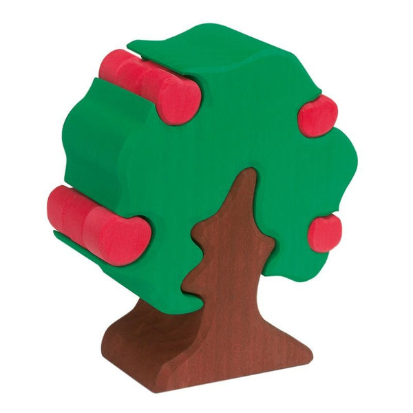 Apple Tree with Apples Wooden Stacker