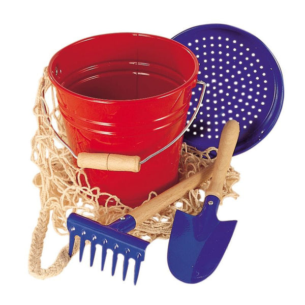 Metal Bucket & Tool Set