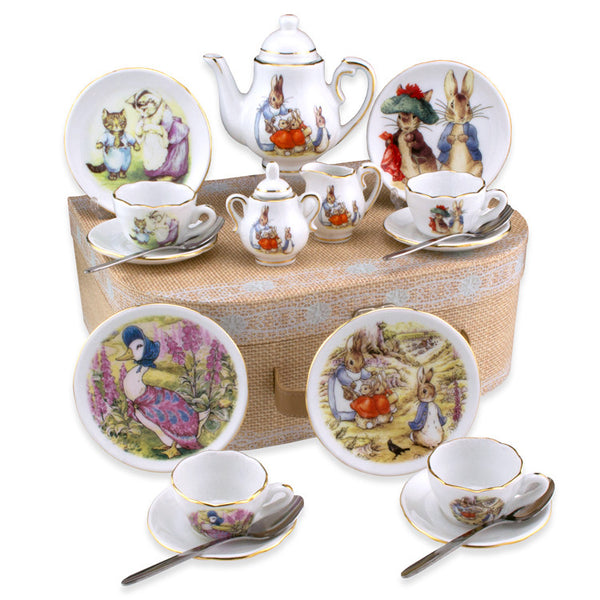 Beatrix Potter Medium German Tea Set in Case