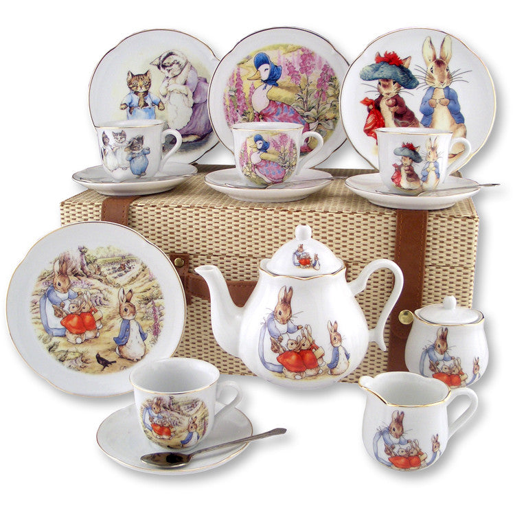 Beatrix Potter Large German Tea Set in Case