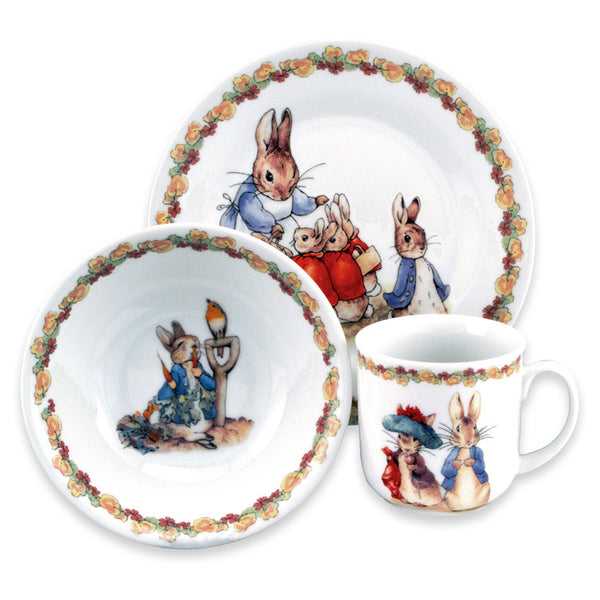 Beatrix Potter 3 Piece Child's Eating Set