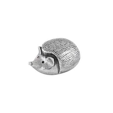Pewter Hedgehog Netsuke