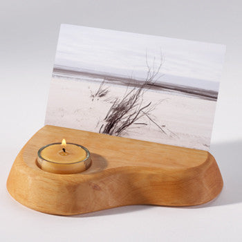 Postcard or Photo Holder with Tealight Candle