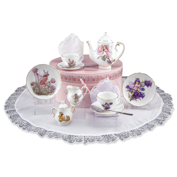 Flower Fairies Medium German Tea Set in Hatbox