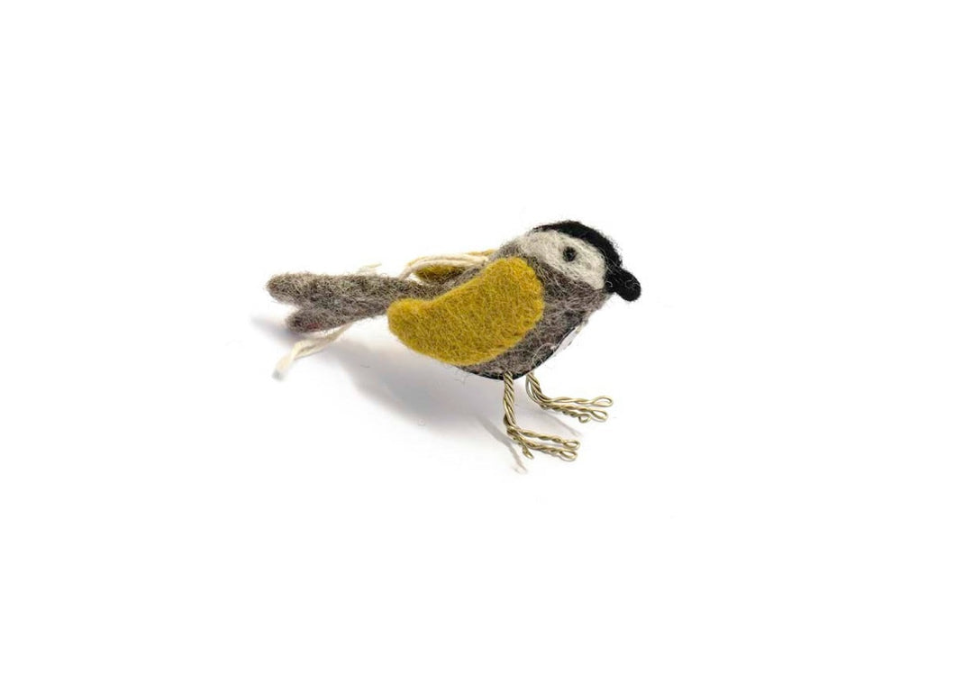 Felted Wool Bird - Ochre