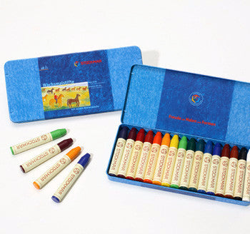 Stockmar 16 Color Stick Crayons in Tin