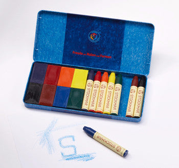 Stockmar 8 Stick & 8 Block Crayons in Tin