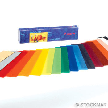 Stockmar Narrow Decorating Wax Sheets - Single Colors