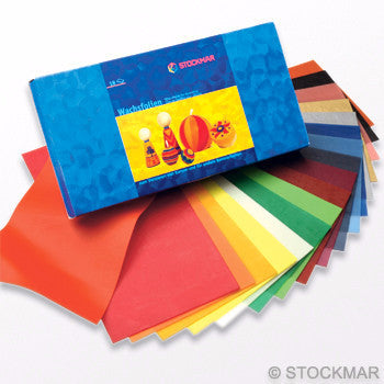 Stockmar Wide Decorating Wax Sheets - Single Colors