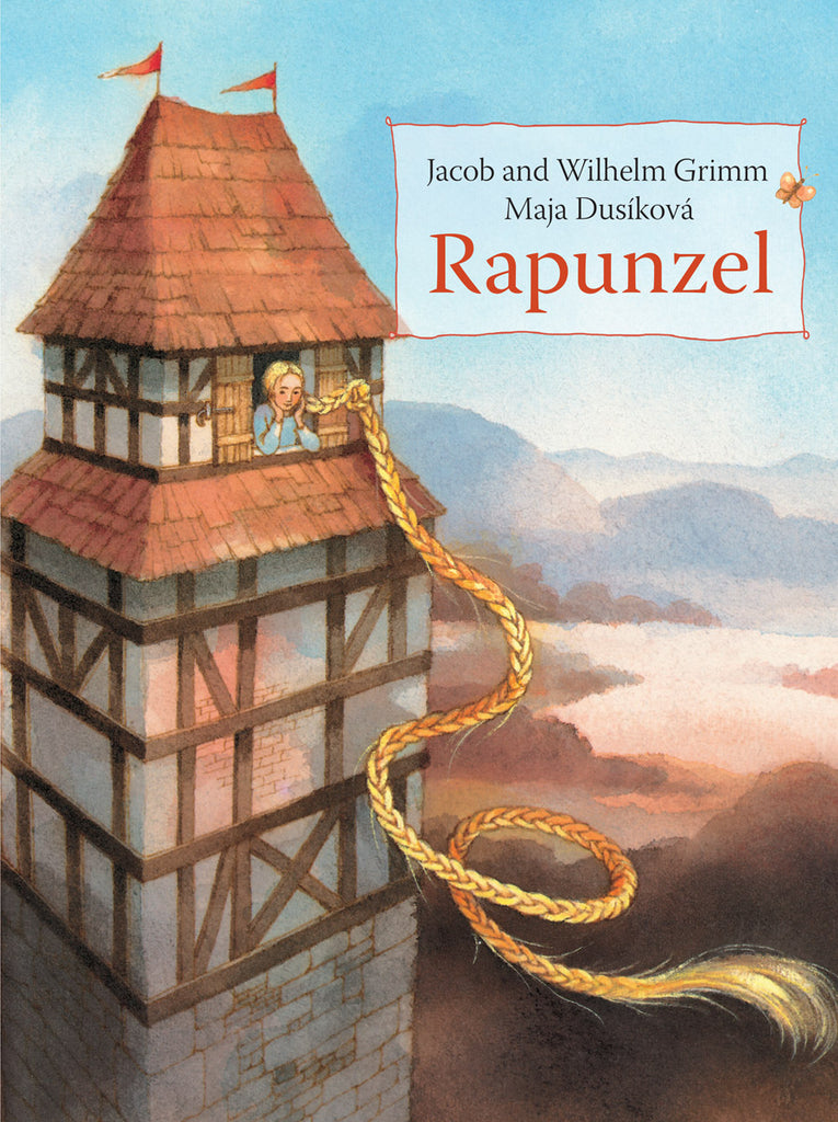 <i>Rapunzel</i> by the Brothers Grimm, illustr. by Maja Dusikova