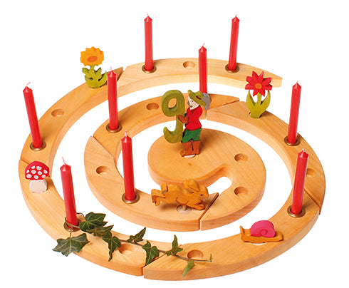 Wooden Advent Spiral