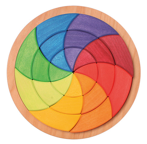 Grimm's Large Geometric Color Circle Puzzle