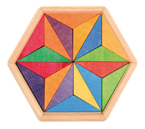 Rainbow Wooden Star Puzzle