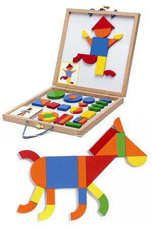 Geoform Magnetic Board and Shape Set