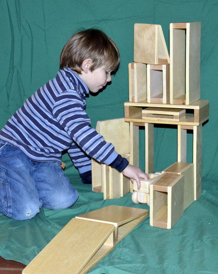 Small Hollow Wood Building Block Set