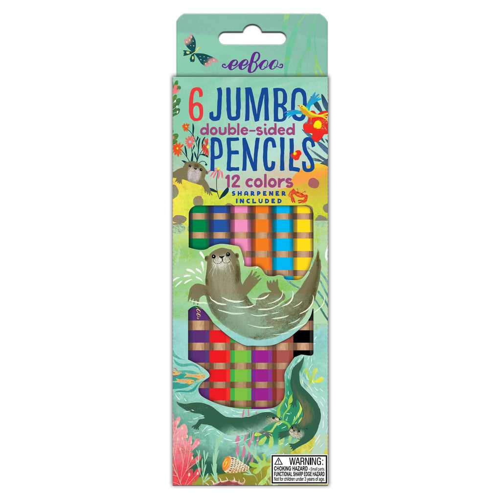 Otters at Play Jumbo Double-Sided Colored Pencils