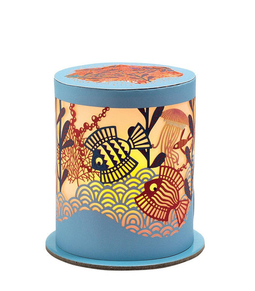 Miniature Paper Cut Night Light - Ocean