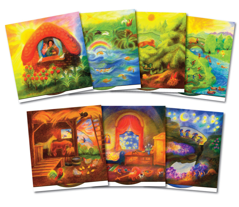 From Morning Til' Night - Boxed Set of 7 Turning Wheel Story Cards