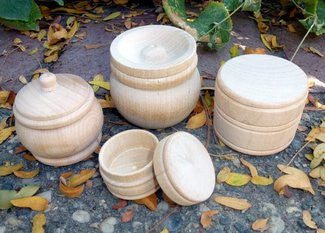 Little Wood Pot with Lid