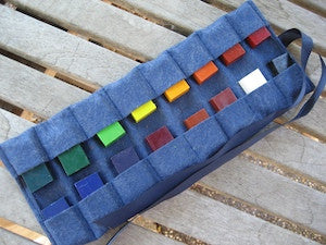 Felt Block Crayon Case - Blue
