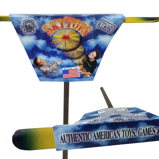 Rainbow Whirly-Gig Hand Helicopter
