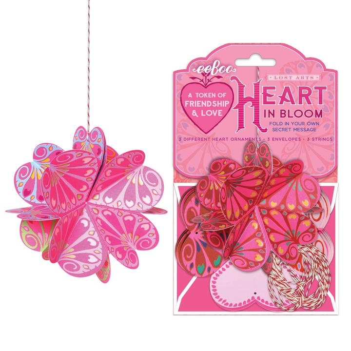 Lost Arts Heart in Bloom Valentine Craft