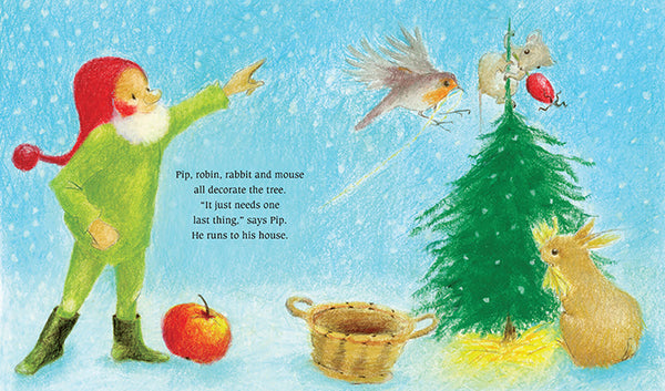 <i>Pip the Gnome and the Christmas Tree</i> Board Book by Admar Kwant