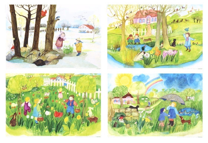 <i>Spring</i> Postcard Collection by Eva-Maria Ott-Heidmann