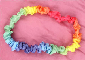 Rainbow Silk Dress Up Band