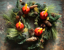 Load image into Gallery viewer, Make-It-Yourself Advent Apple Wreath Kit