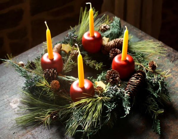 Advent Apple Wreath