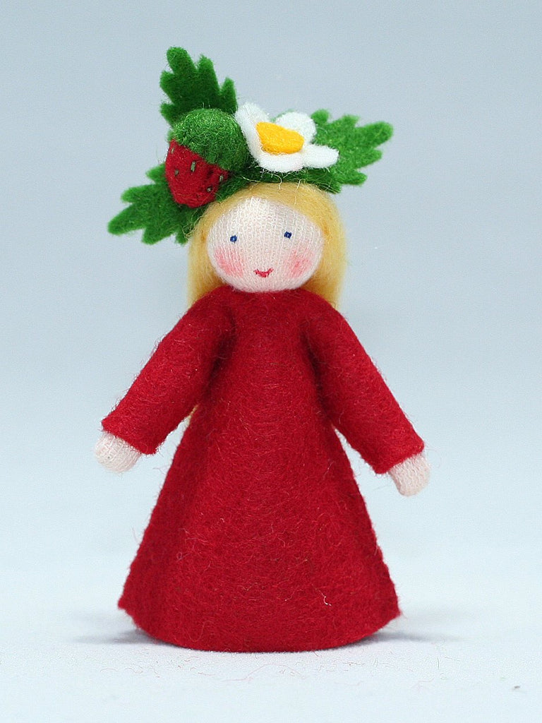 Strawberry Fairy Felted Waldorf Doll - Two Skin Colors