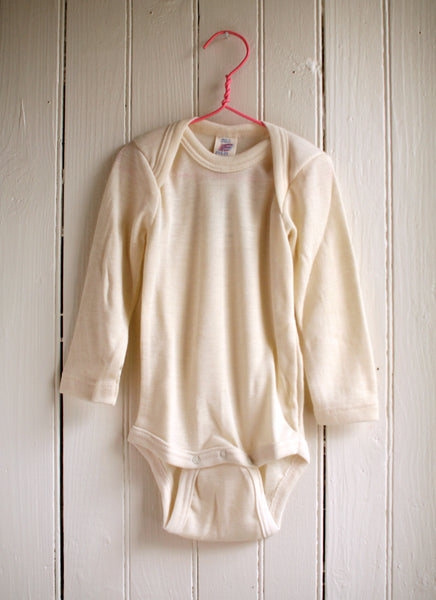 Engel Organic Wool/Silk Baby Long Sleeve Onesie