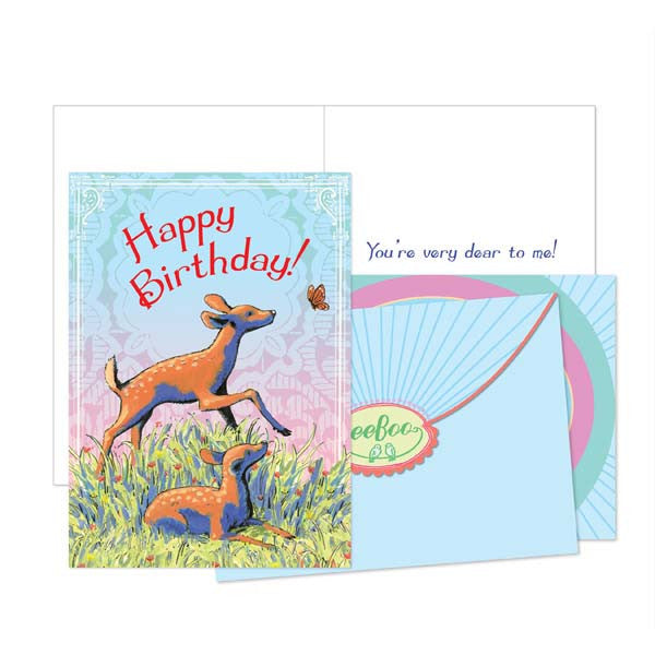 Dear Fawn Birthday Card