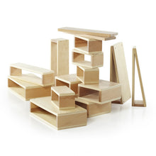 Load image into Gallery viewer, Large Hollow Wood Building Block Set