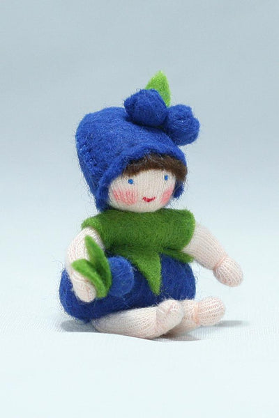 Blueberry Baby Felted Waldorf Doll