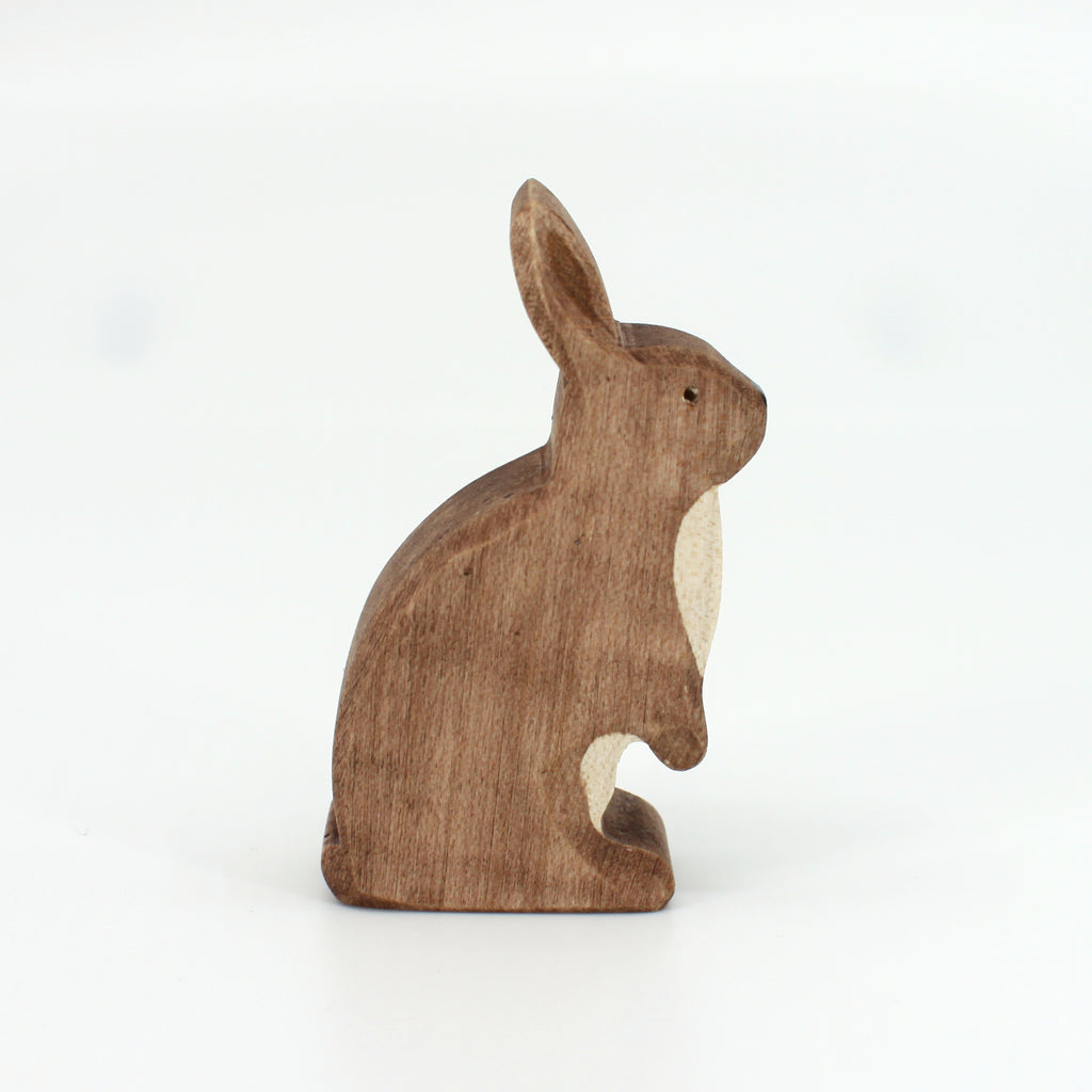 Brown Rabbit Standing by Brin d'Bois