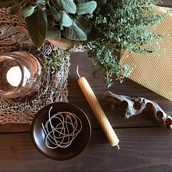 Christmas Colors Beeswax Candle Making Kit
