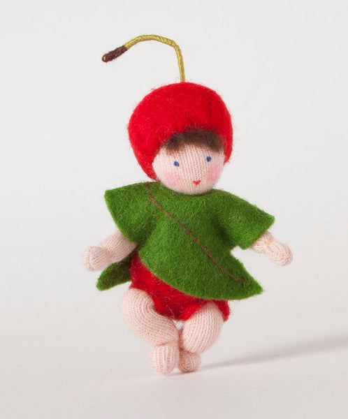 Cherry Baby Felted Waldorf Doll