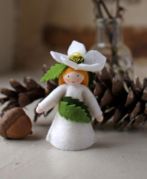 Christmas Rose Fairy Felted Waldorf Doll - Two Skin Colors