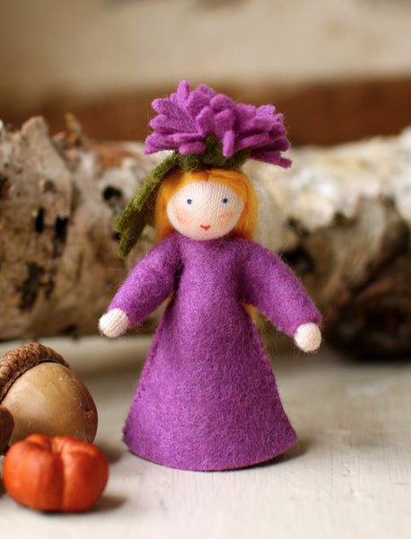 Chrysanthemum Fairy Felted Waldorf Doll